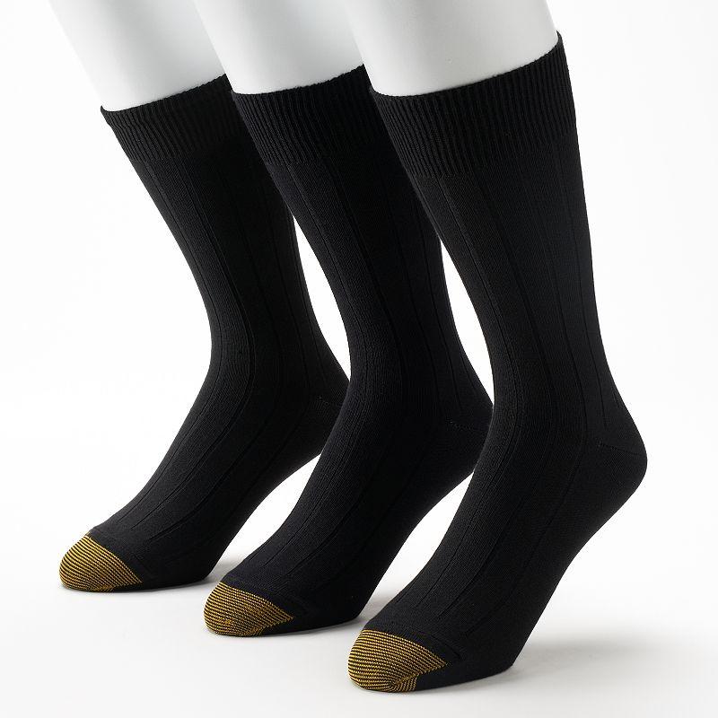 Men's GOLDTOE 3-pack Ultra-Soft Ribbed Crew Socks