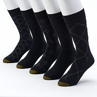 GOLDTOE 5-pack Patterned & Solid Dress Socks - Men