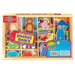 T.S. Shure Pocket Bears Wooden Magnetic Dress-Up Set by