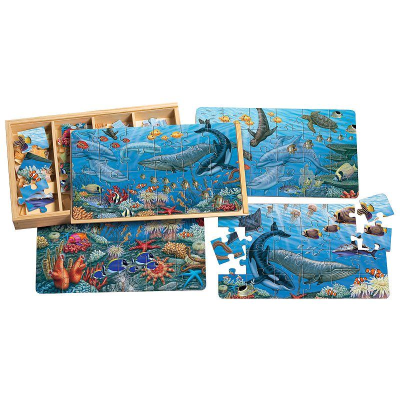 T.S. Shure PuzBox 4-pk. Ocean Life Wooden Puzzles