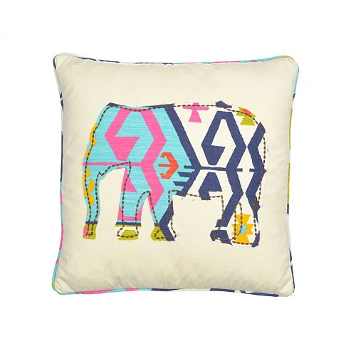 Malawi Elephant Throw Pillow : Malawi Elephant Throw Pillow