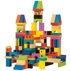 T.S. Shure ArchiQuest 136-Piece Master Builder Wooden Blocks Set by