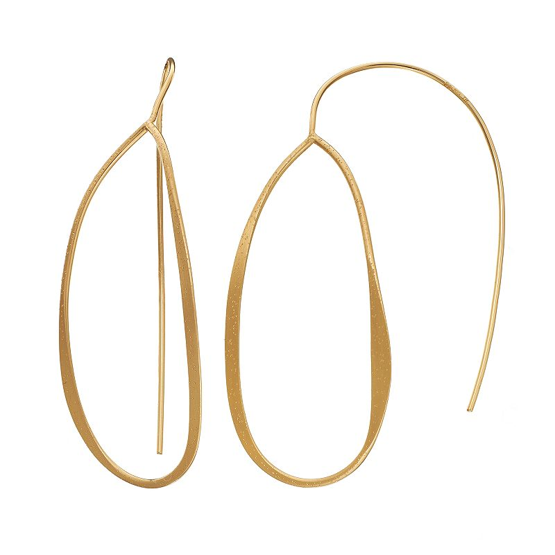AMORE by SIMONE I. SMITH 18k Gold Over Silver Oval Drop Earrings