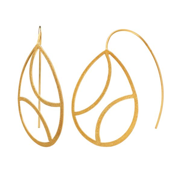 AMORE by SIMONE I. SMITH 18k Gold Over Silver Openwork Teardrop Earrings