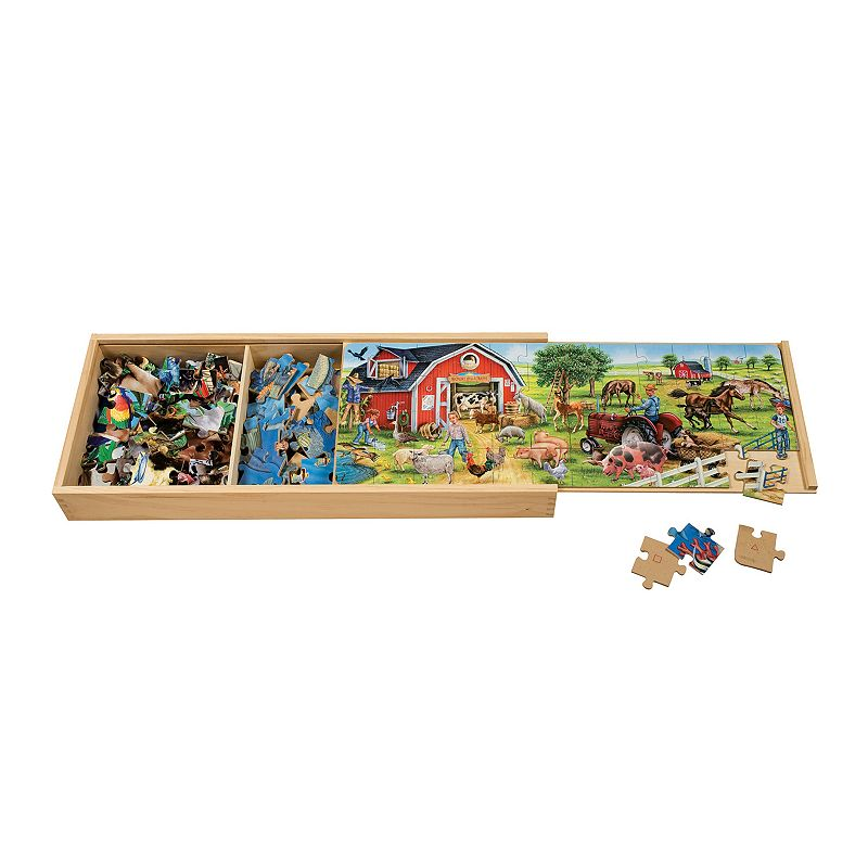 T.S. Shure 3-pack Animal Wooden Jumbo Puzzles