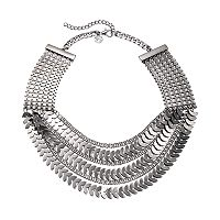 GS by gemma simone Chain Reaction Collection Iris Swag Necklace
