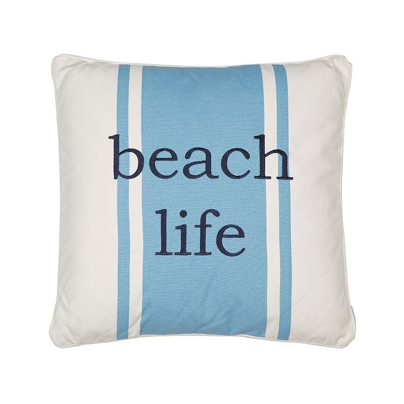 St. Bart ''Beach Life'' Throw Pillow