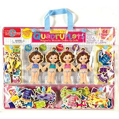 T.S. Shure Teeny Tiny Quadruplets Wooden Magnetic Dress-Up Doll Set by