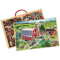T.S. Shure PuzBox 2-pk. American Tractors Wooden Puzzles