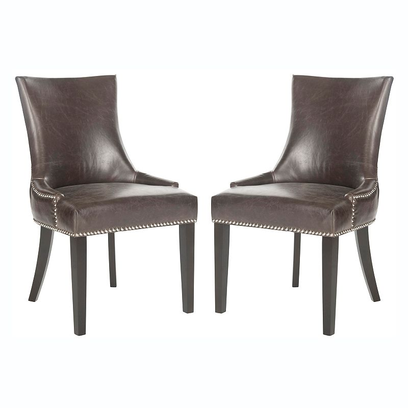 Safavieh 2-piece Lester Antique Brown Dining Chair Set