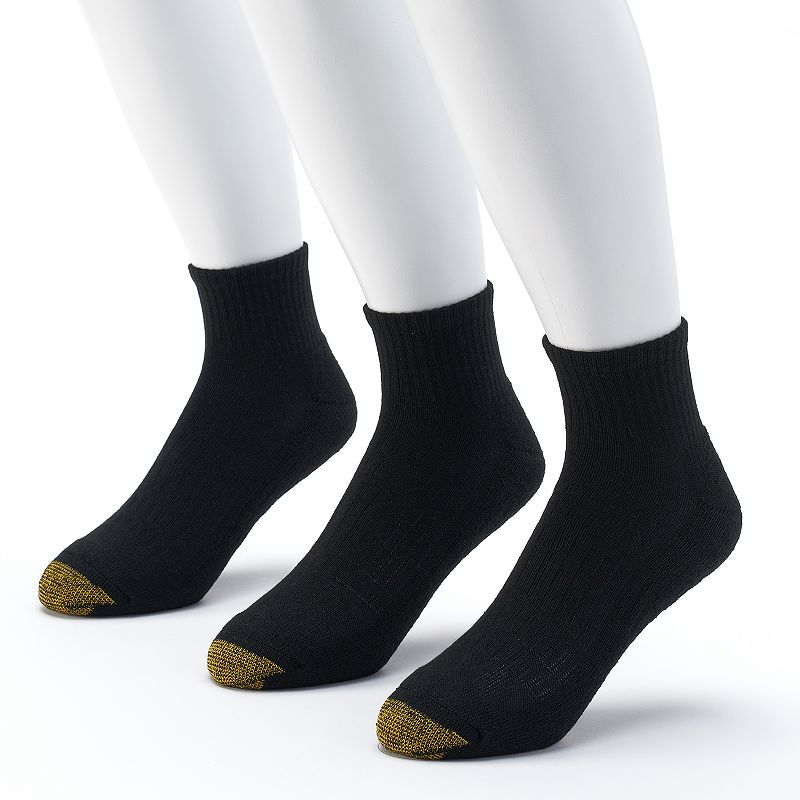 Men's GOLDTOE 3-pack Arch 360 Endurance Quarter Socks