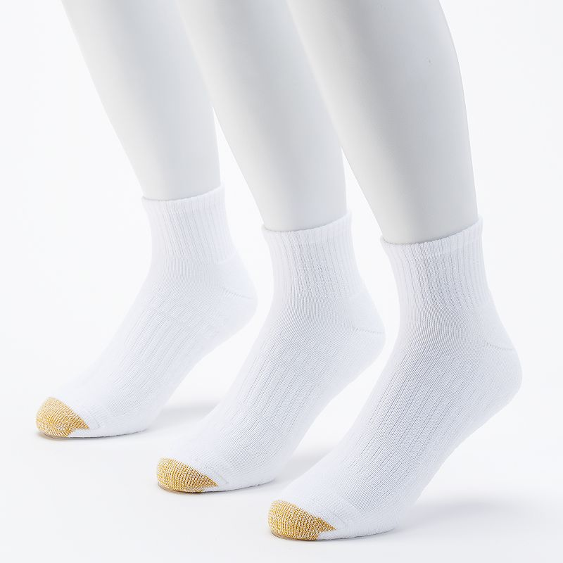 Men's GOLDTOE 3-pack Arch 360 Endurance Quarter Socks