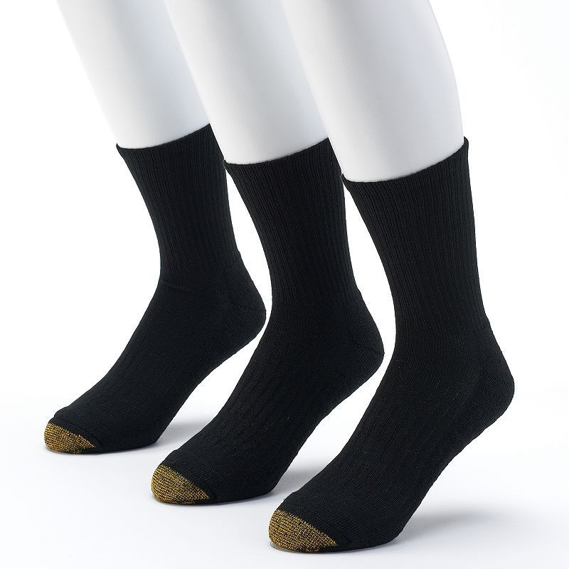 Men's GOLDTOE 3-pack Arch 360 Endurance Crew Socks