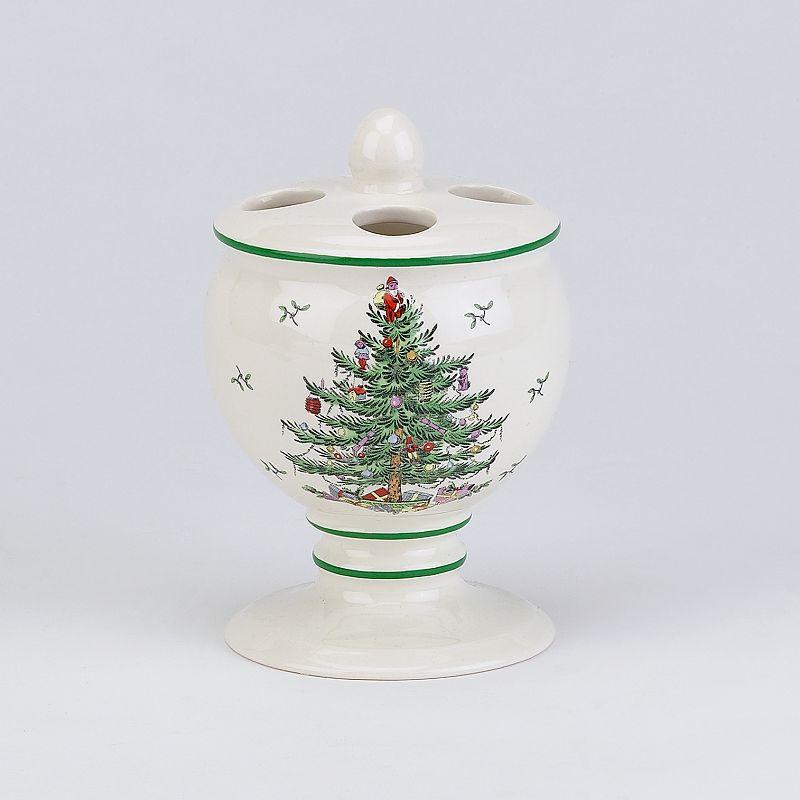 Spode christmas tree toothbrush holder white dealtrend