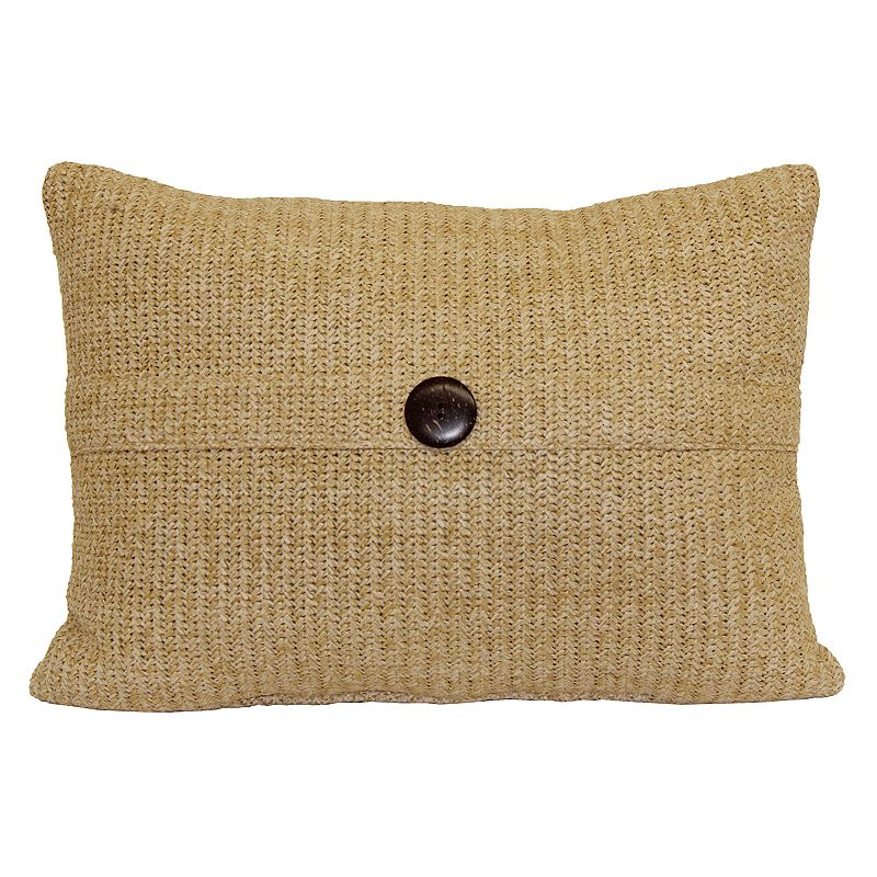 Natural Wave One Button Throw Pillow