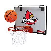 Louisville Cardinals Game On Hoop Set