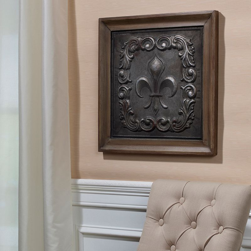 Bombay Scroll Fleur-De-Lis Wall Decor