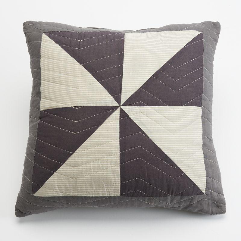 Home Classics Elijah Statements Throw Pillow Grey