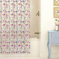 Excell Les Fleur PEVA Shower Curtain