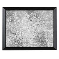 Head West London Map Framed Wall Art