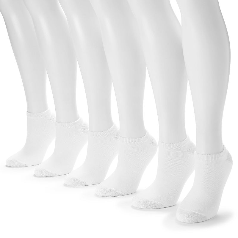 Hanes 6-pk. Ultimate Core No-Show Socks - Women