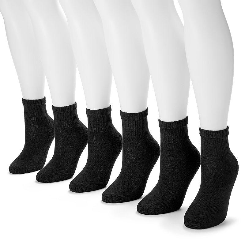 Hanes 6-pk. Ultimate Core Ankle Socks - Women
