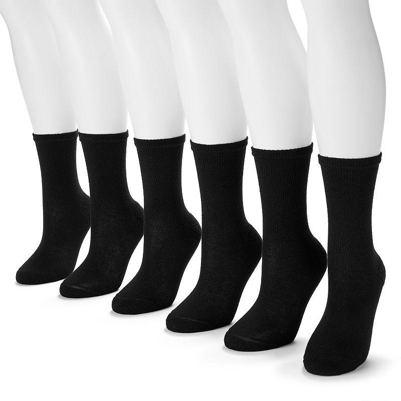 Hanes 6-pk. Ultimate Core Crew Socks - Women