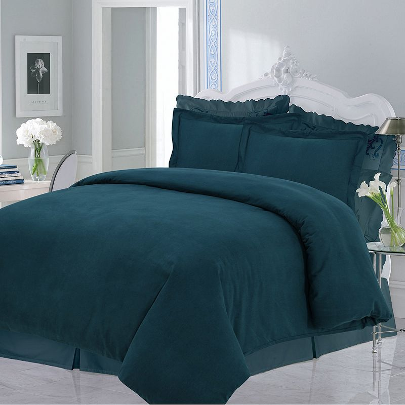 Luxury Flannel Solid 3-pc. Duvet Cover Set - King