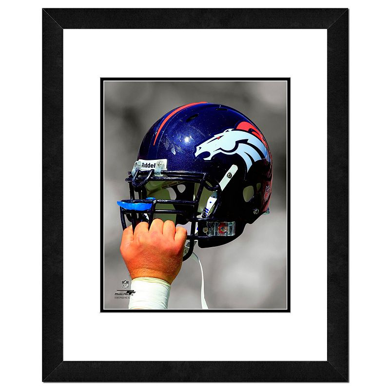 Denver Broncos Team Helmet Framed 11
