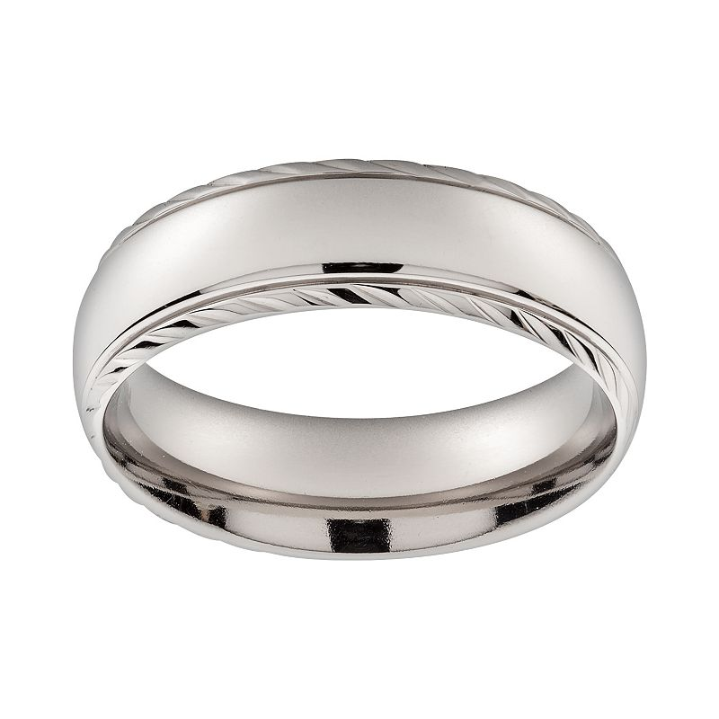 Titanium Textured Band - Men