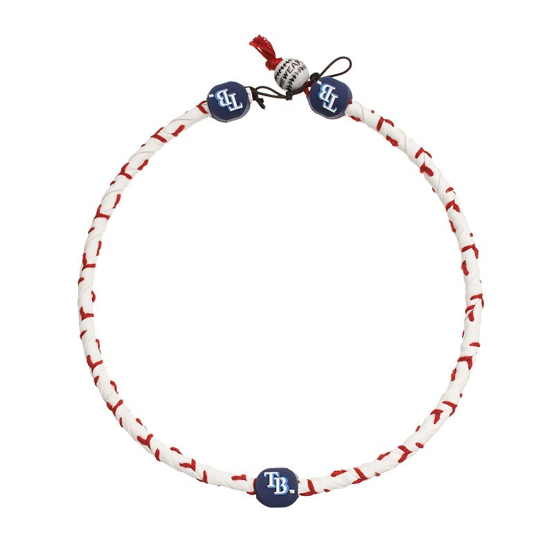 GameWear Frozen Rope Tampa Bay Rays Leather Baseball Necklace