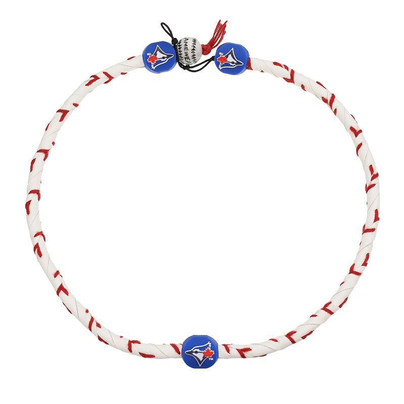GameWear Frozen Rope Toronto Blue Jays Leather Baseball Necklace