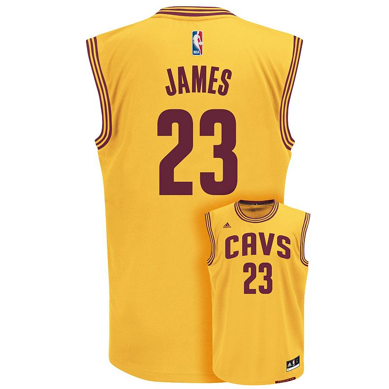 adidas Cleveland Cavaliers LeBron James NBA Replica Jersey - Boys 8-20