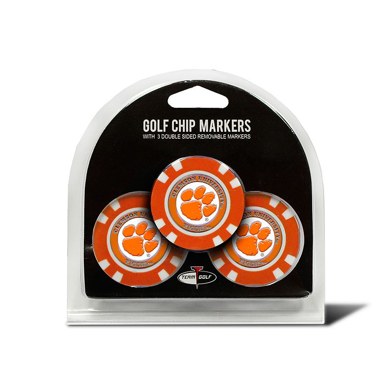 Team Golf Clemson Tigers 3-pack Poker Chip Ball Markers