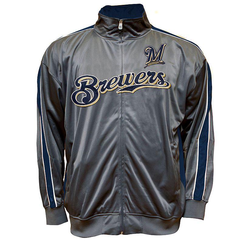 Big & Tall Milwaukee Brewers Tricot Track Jacket