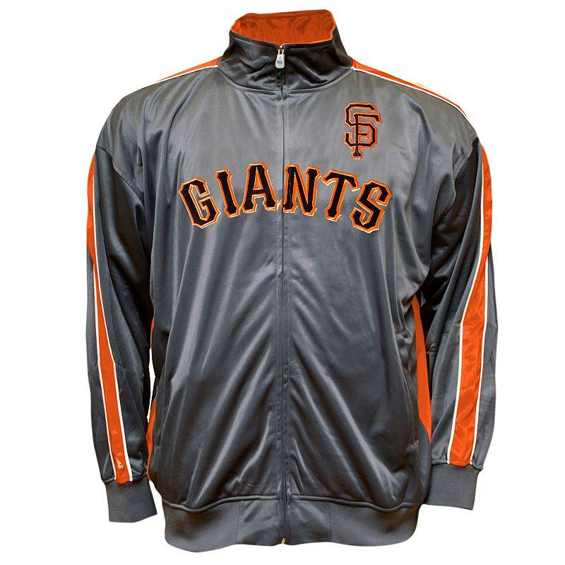 Big & Tall San Francisco Giants Tricot Track Jacket