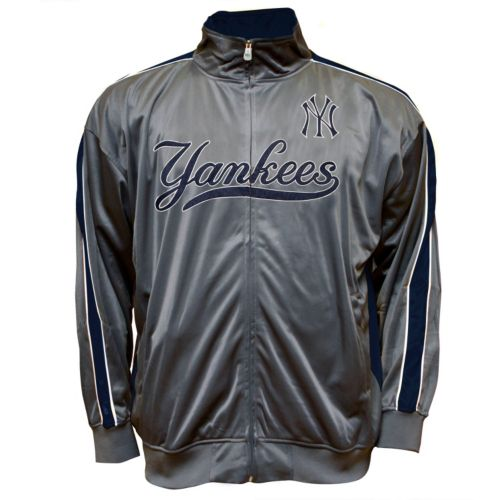 Big & Tall New York Yankees Tricot Track Jacket