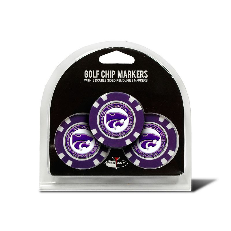 Team Golf Kansas State Wildcats 3-pack Poker Chip Ball Markers