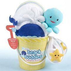 Baby Aspen Beach Buddies Bathtime Bucket Gift Set Baby