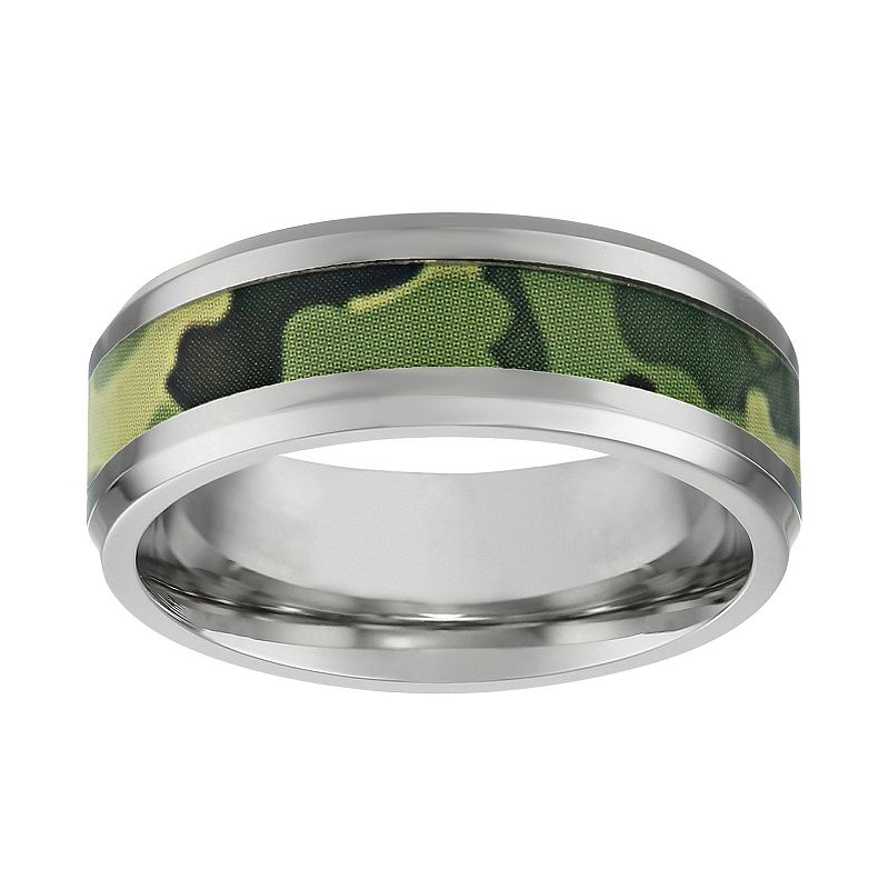 Stainless Steel Camouflage Band - Men
