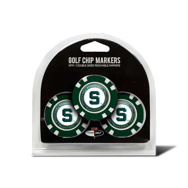 Team Golf Michigan State Spartans 3-pack Poker Chip Ball Markers