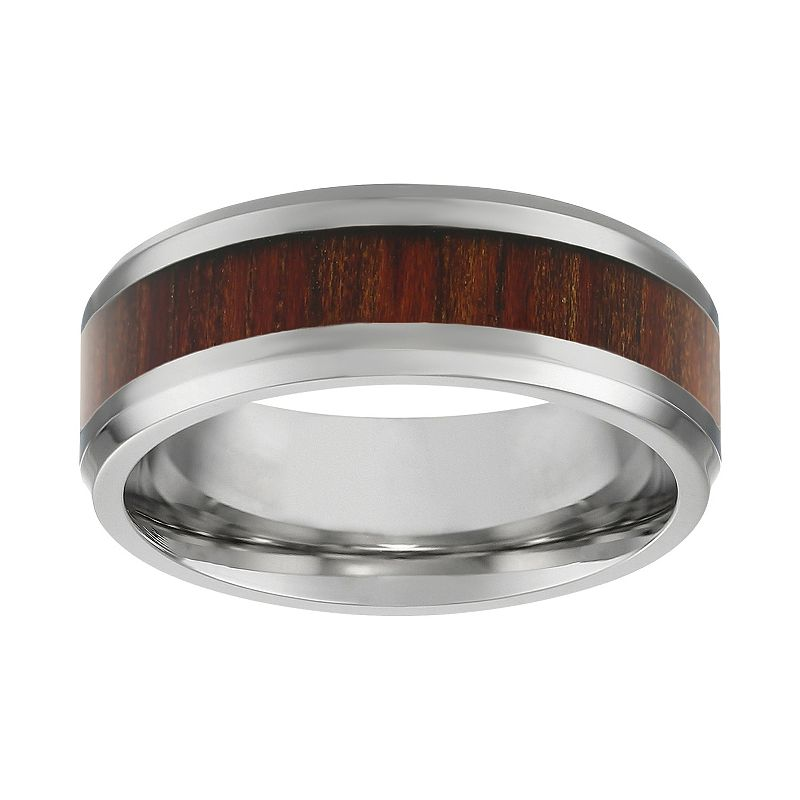 Stainless Steel and Wood Band - Men