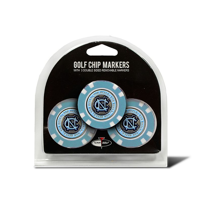 Team Golf North Carolina Tar Heels 3-pack Poker Chip Ball Markers