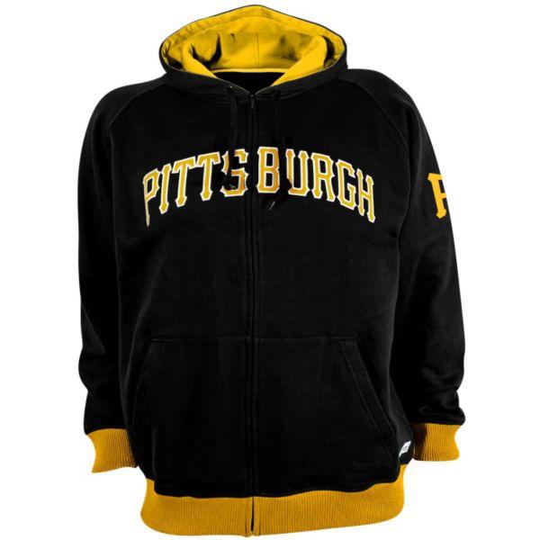 Men's Stitches Pittsburgh Pirates Full-Zip Fleece Hoodie