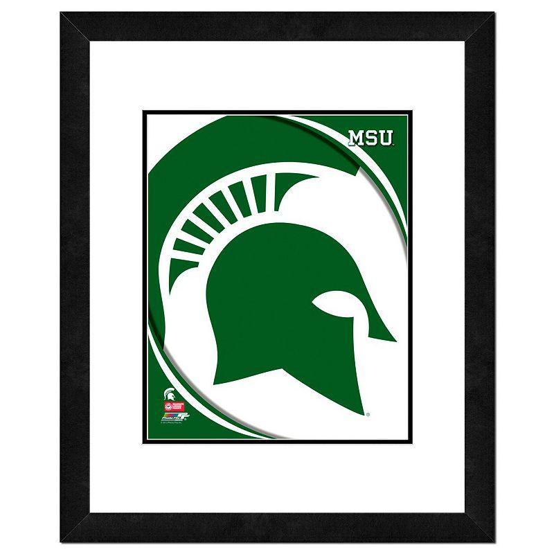 Michigan State Spartans Team Logo Framed 11