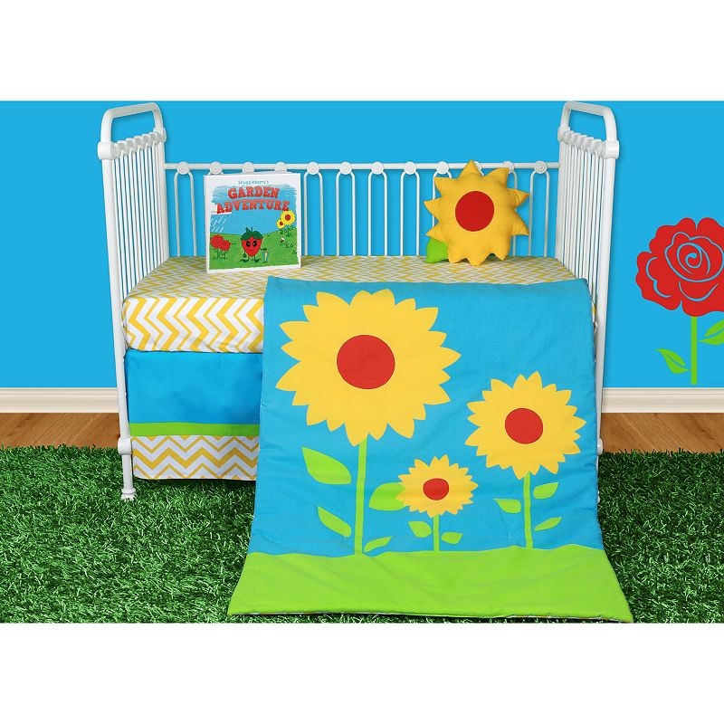 Snuggleberry Baby Sunflower Love 5-pc. Crib Bedding Set with Storybook
