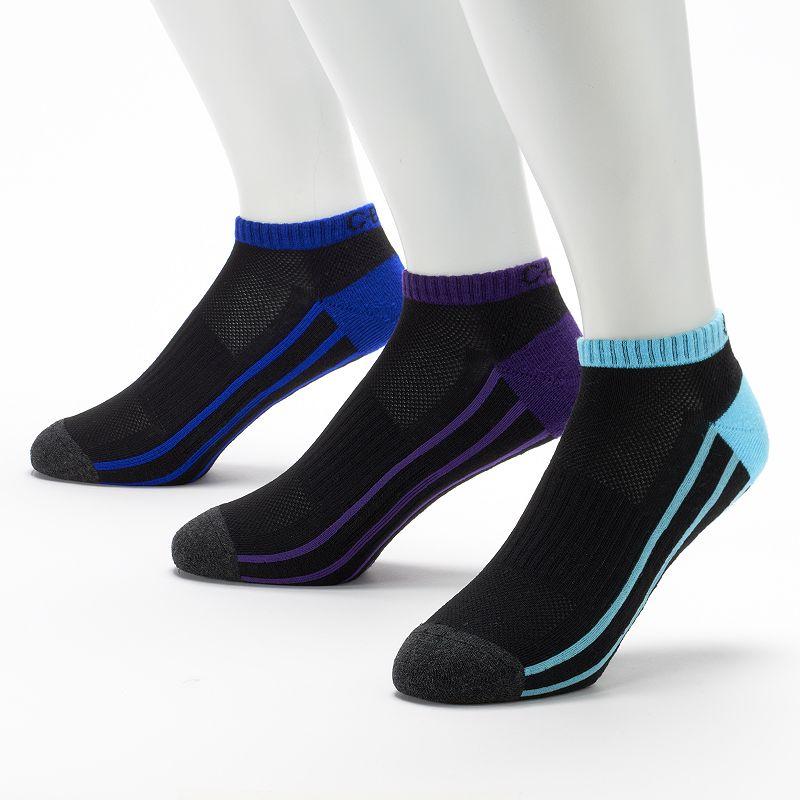 Men's C-BUK by Cutter & Buck 3-pk. Redan Performance Athletic Low-Cut Liner Socks