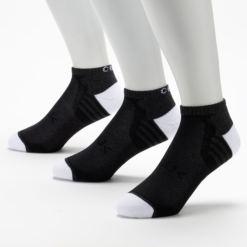 Men's C-BUK by Cutter & Buck 3-pk. Par 4 Performance Athletic Low-Cut Liner Socks