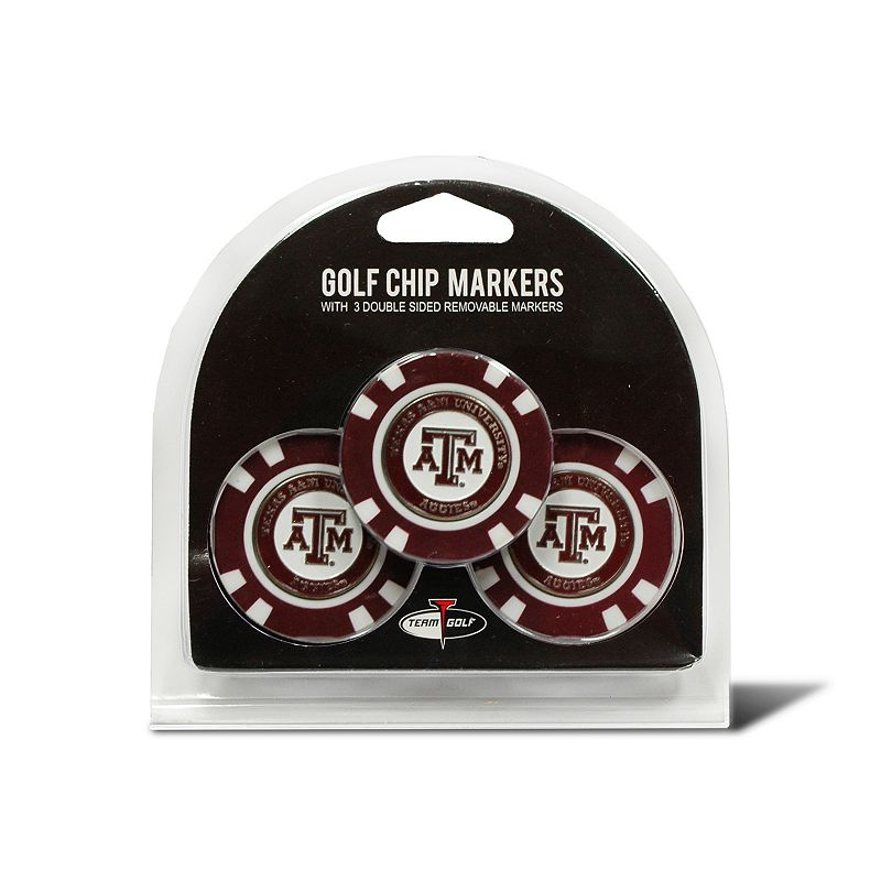 Team Golf Texas A&M Aggies 3-pack Poker Chip Ball Markers