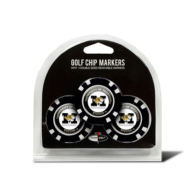 Team Golf Missouri Tigers 3-pack Poker Chip Ball Markers